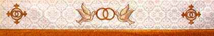 embroidered church wedding symbols - 324-323-324