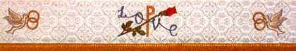 embroidered church wedding symbols - 326-325-326
